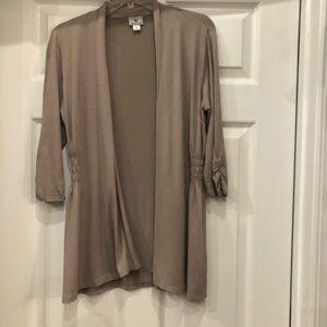 Worthington Cardigan scrunch sleeves Size S